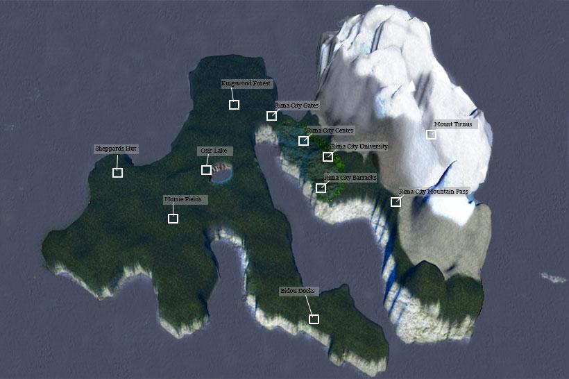 Calmere Island Map